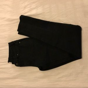 Thick stretchy black pants
